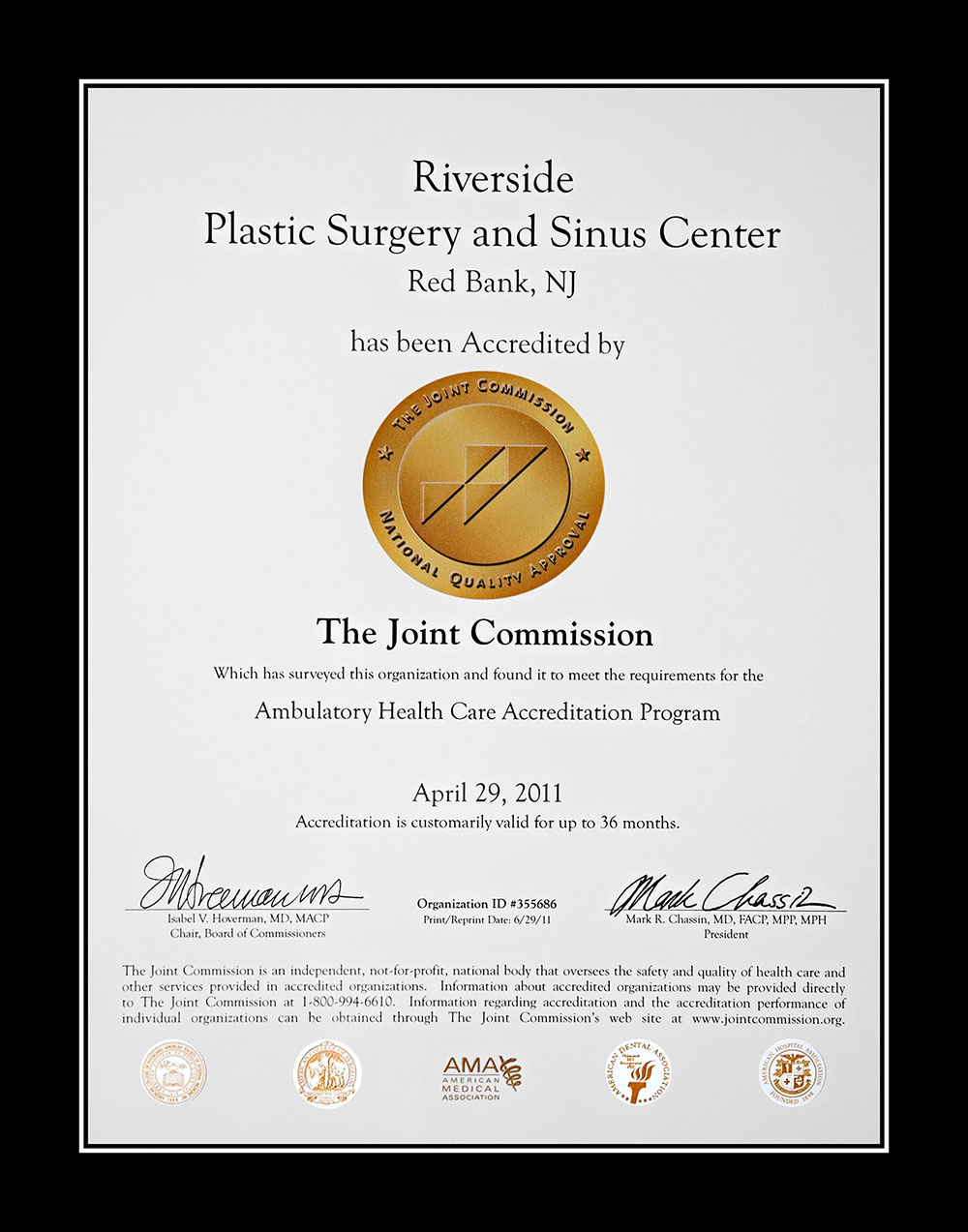 Riverside Certification